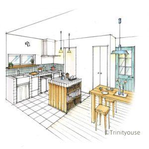 オリジナルキッチン、トリニティハウス